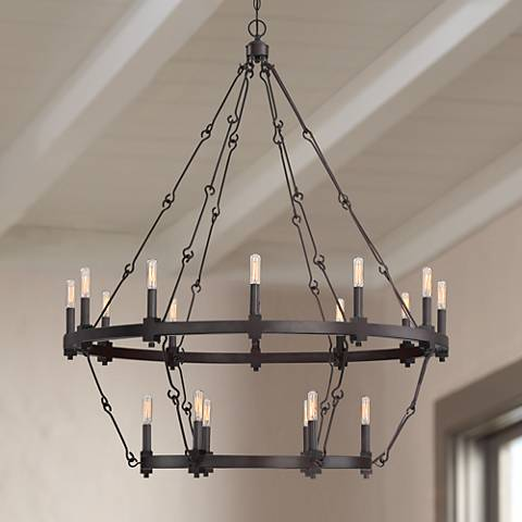 "Savoy House Adria 38 1/2"" Wide Bronze 18-Light Chandelier"