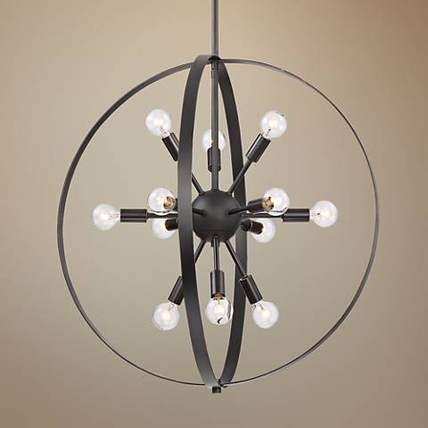 "Savoy House Marly 24 1/2"" Wide Bronze 12-Light Chandelier"