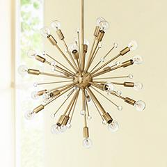 "Savoy House Galea 23"" Wide Warm Brass 24-Light Chandelier"