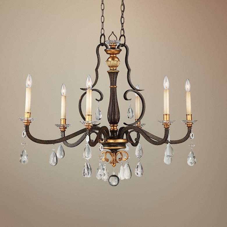 "Chateau Nobles 40""W Bronze Kitchen Island Light Chandelier"