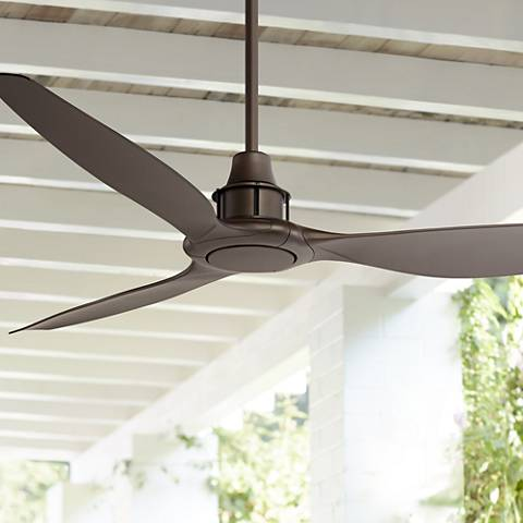 "58"" Interceptor Oil Rubbed Bronze Damp Ceiling Fan"
