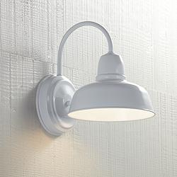 "Urban Barn 11 1/4"" High White Indoor-Outdoor Wall Light"