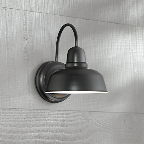 Urban Barn 11 1 4 Quot High Black Indoor Outdoor Wall Light