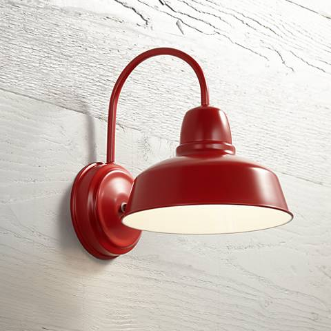 "Urban Barn Collection 13"" High Red Outdoor Wall Light"