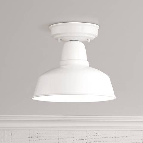 "Urban Barn Collection 10 1/4"" Wide White Ceiling Light"