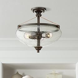 "Hartfield 15 1/4"" Wide Oil Rubbed Bronze Ceiling Light"