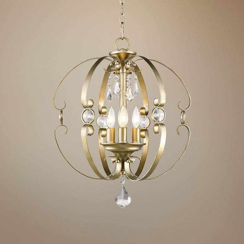 "Ella WG 18""W White Gold Open Sphere Foyer"
