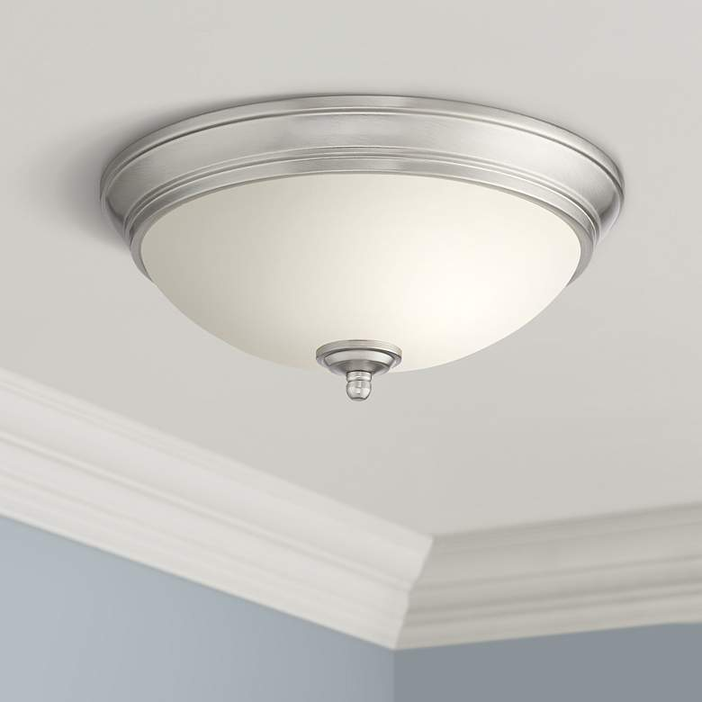 "Melana 10 3/4"" Wide Brushed Nickel LED Ceiling Light"