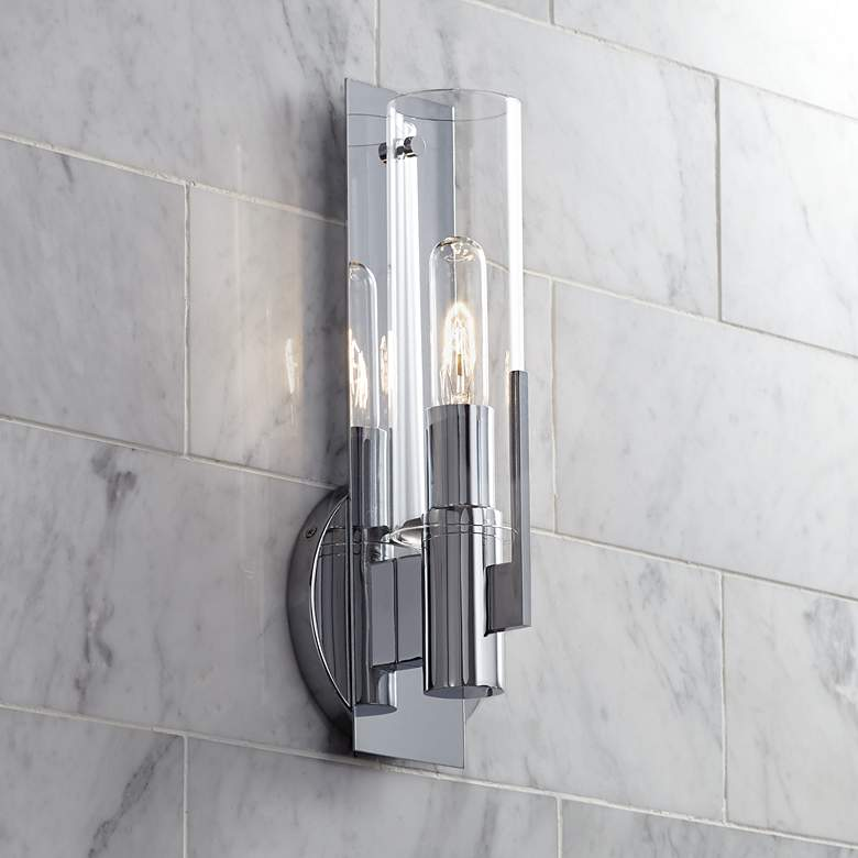"Possini Euro Pax 15"" High Wall Sconce in Chrome"
