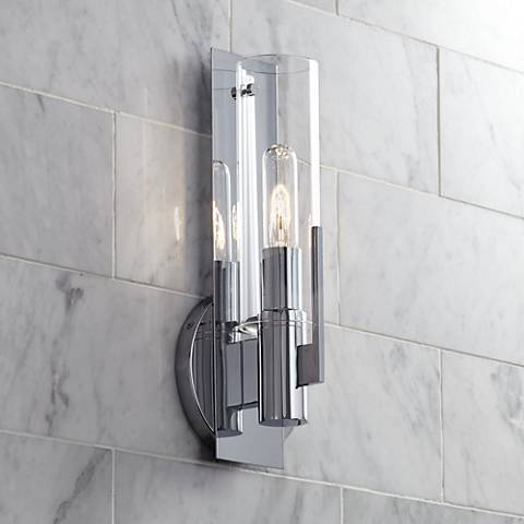 "Possini Euro Pax 15"" High Chrome Wall Sconce"
