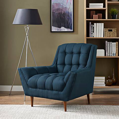 Response Azure Fabric Tufted Armchair