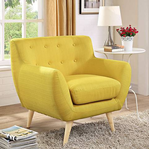Remark Sunny Fabric Tufted Armchair