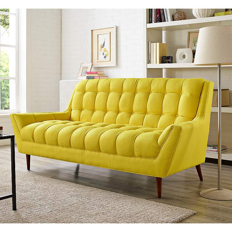Response Sunny Fabric Tufted Loveseat