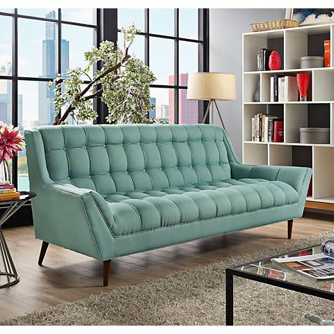 "Response Laguna 89"" Wide Fabric Tufted Sofa"