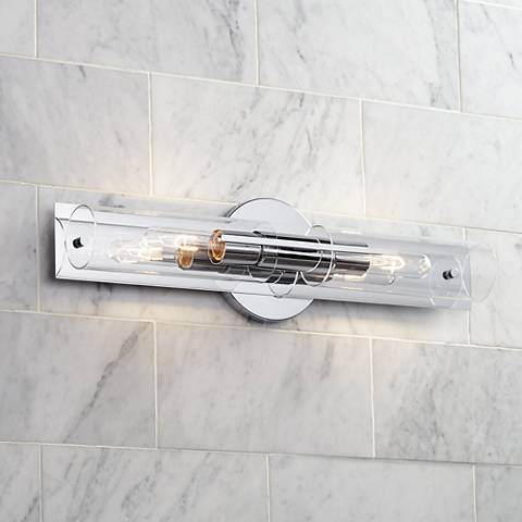"Possini Euro Pax 23 1/2"" Wide 2-Light Chrome Bath Light"