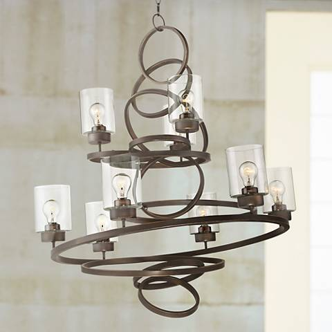 "Dalen 35 1/2"" Wide Oil-Rubbed Bronze 9-Light Chandelier"
