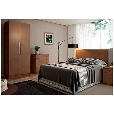Chelsea 2.0 Maple Cream Wood 2-Door Basic Wardrobe Closet