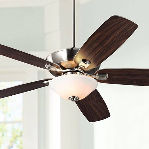 "60"" Colony Super Max Plus Brushed Steel Damp Ceiling Fan"