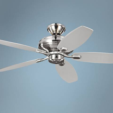 "52"" Centro Max Uplight Brushed Steel Ceiling Fan"
