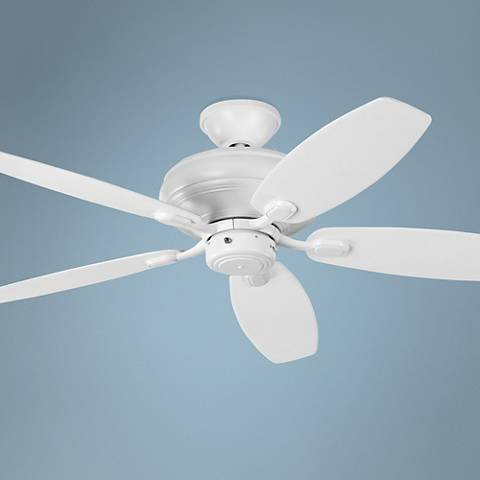 "52"" Centro Max Uplight Rubberized White Ceiling Fan"