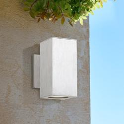 "Possini Euro Clovis 8 1/4""H Nickel LED Outdoor Wall Light"