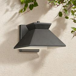 "Whatley 6 1/4"" High Black LED Outdoor Wall Light"