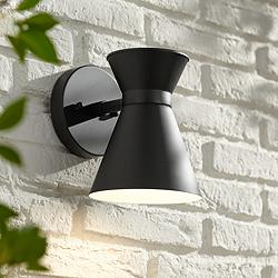 "Vance 8"" High Black LED Outdoor Wall Light"
