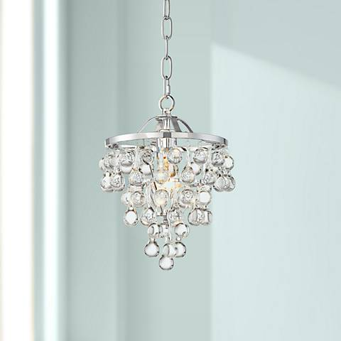 Conley 9 34 wide chrome and clear glass mini pendant 13w84 conley 9 34 wide chrome and clear glass mini pendant aloadofball Image collections