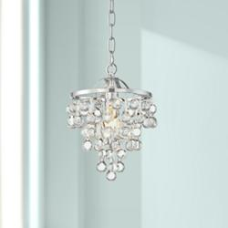 "Conley 9 3/4"" Wide Chrome and Clear Glass Mini Pendant"