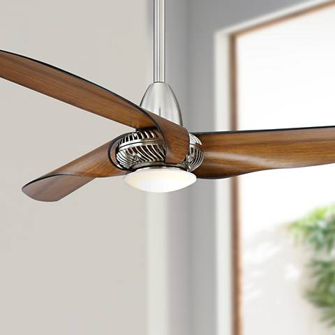 "56"" Sleuth™ Kona - Brushed Nickel LED Ceiling Fan"