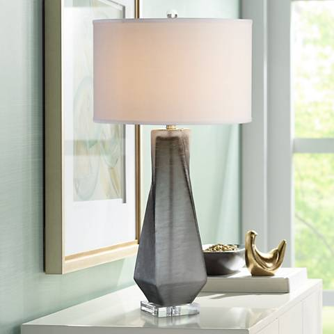 Uttermost Annatoli Unpolished Charcoal Glass Table Lamp