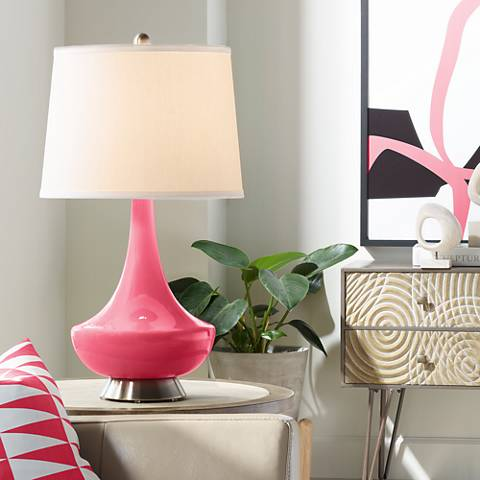 Eros Pink Gillan Glass Table Lamp