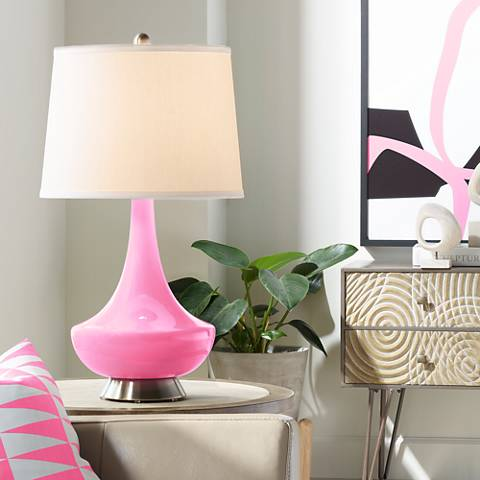 Pale Pink Gillan Glass Table Lamp