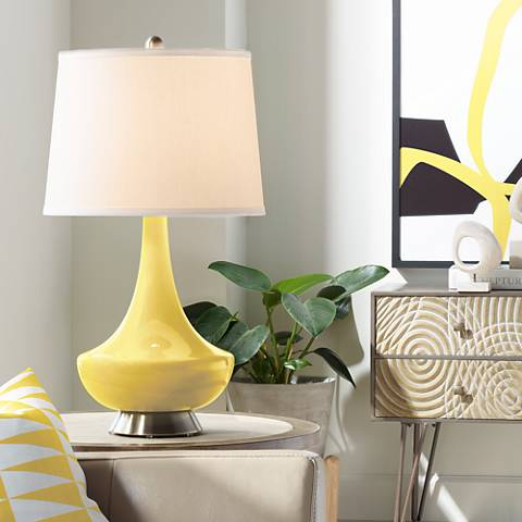 Lemon Zest Gillan Glass Table Lamp