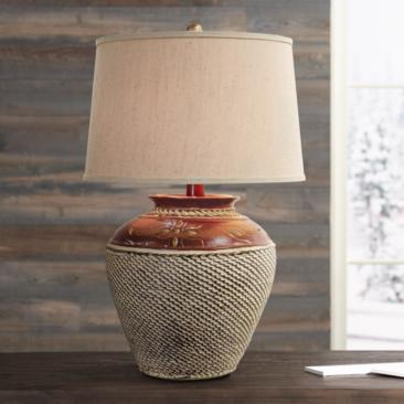 Jarosa Red Western Table Lamp