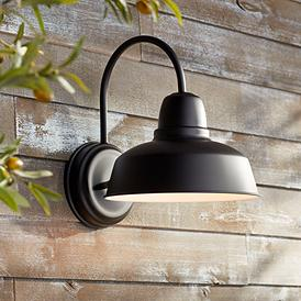 "Urban Barn Collection 13"" High Black Outdoor Wall Light"