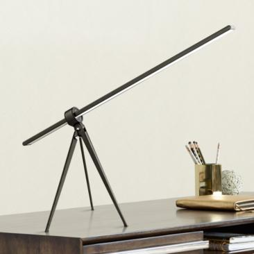 Telly Black Modern Tripod LED Desk Lamp