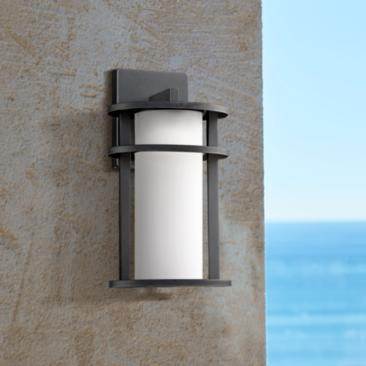 "Aline 13"" High Black LED Outdoor Wall Light"
