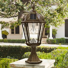 Solar Post Light Outdoor Lighting Lamps Plus