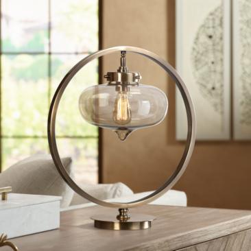 Uttermost Namura Antiqued Plated Brass Ring Table Lamp