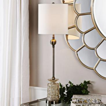 Uttermost Flavinia Light Champagne Glass Tall Table Lamp
