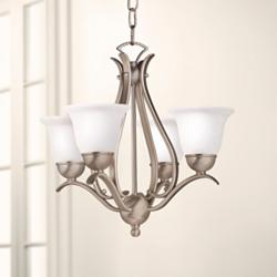 "Kichler Four Light 18"" Wide Brushed Nickel Finish Chandelier"