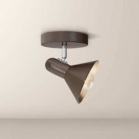 Pro Track Arrow 1-Light Dark Brown Track Ceiling Light