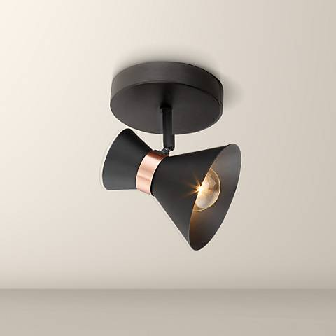 Pro Track Smith 1-Light Matte Black Track Ceiling Light
