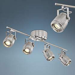 Pro Track Ripple 4-Light Satin Nickel LED Track Light