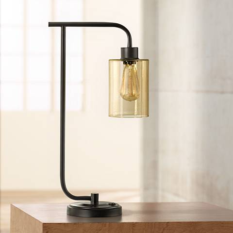 Edison Restoration Bronze Metal Desk Lamp