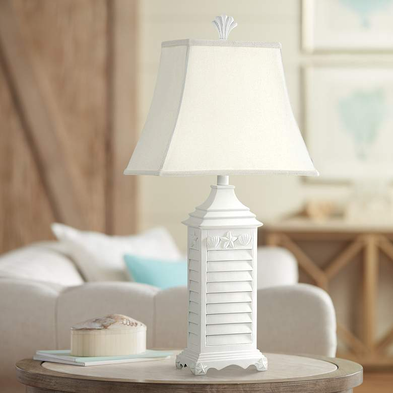 Pacific Grove Shell and Starfish Coastal Style Table Lamp