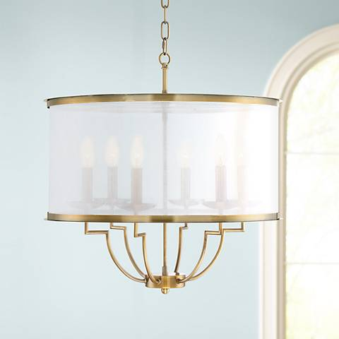 "Del Rio 22 3/4"" Wide Gold 6-Light Chandelier"