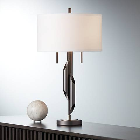 Possini Euro Landry Metal Flutes Table Lamp