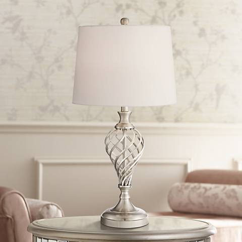 Healey Brushed Steel Table Lamp by 360 Lighting